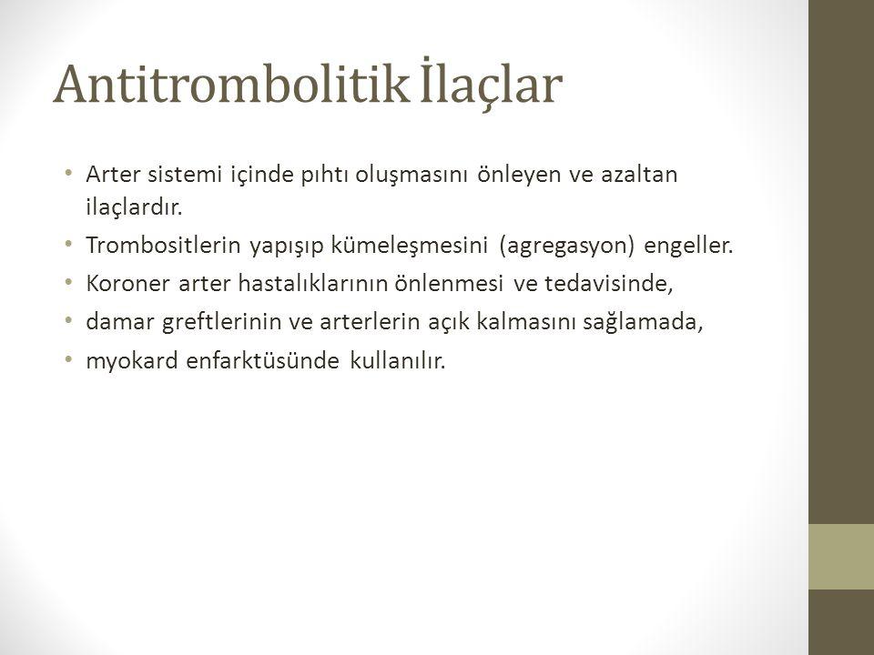 Antitrombolitik İlaçlar