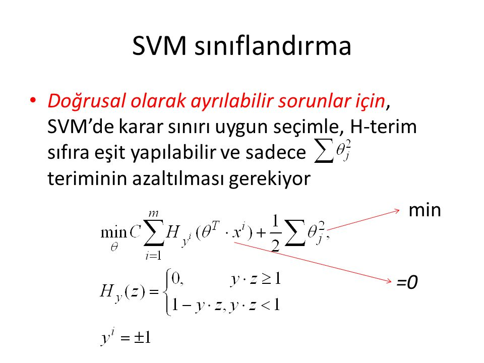 SVM sınıflandırma