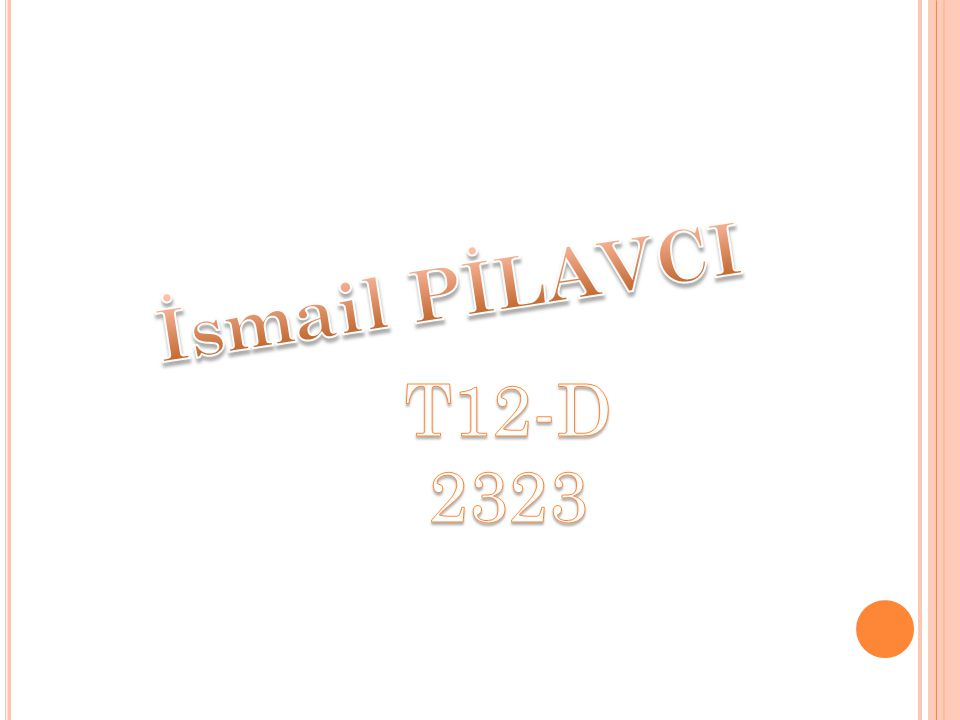 İsmail PİLAVCI T12-D 2323
