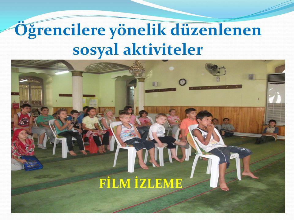 Öğrencilere yönelik düzenlenen sosyal aktiviteler