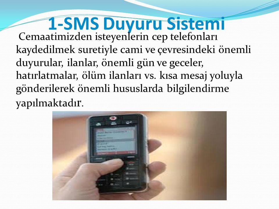 1-SMS Duyuru Sistemi
