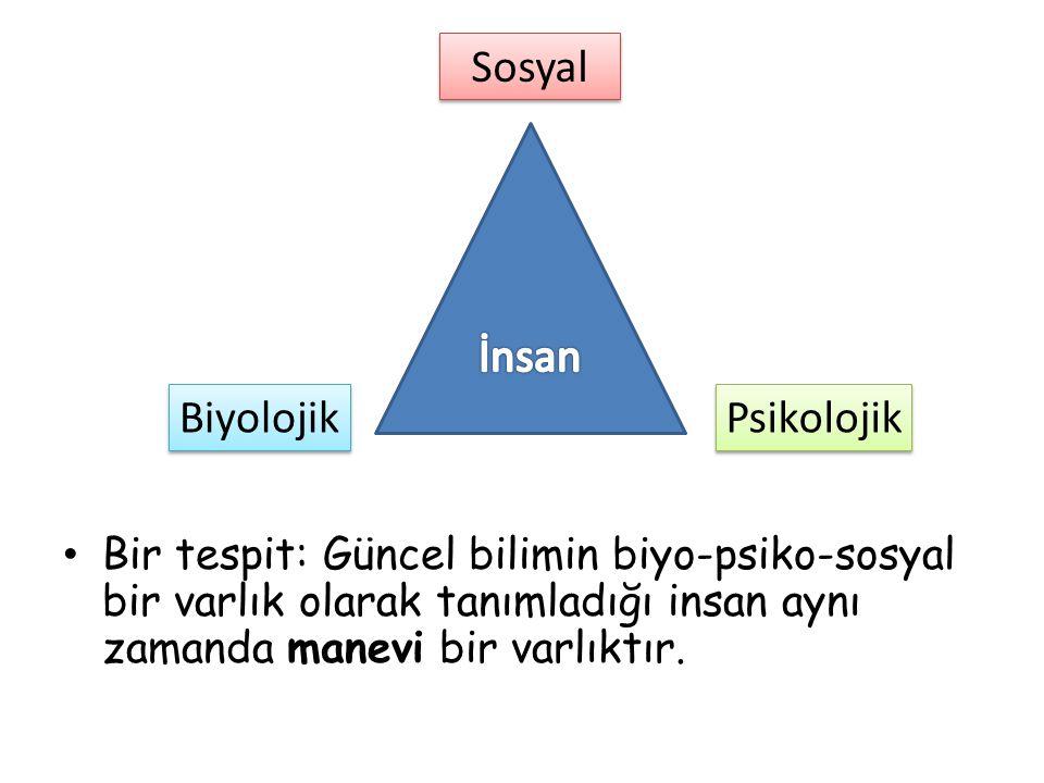 Sosyal İnsan Biyolojik Psikolojik