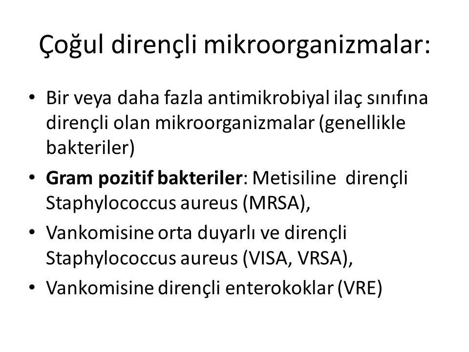 Çoğul dirençli mikroorganizmalar: