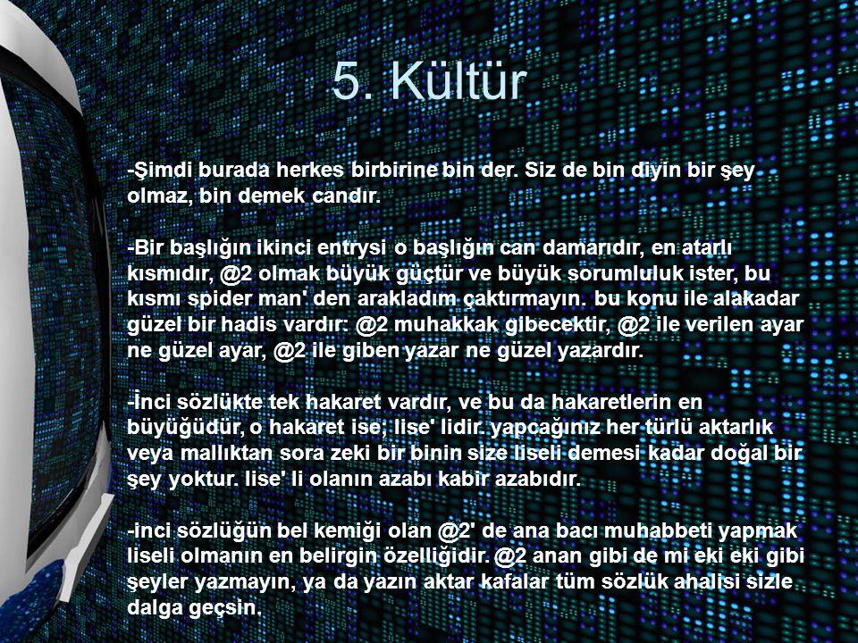 5. Kültür