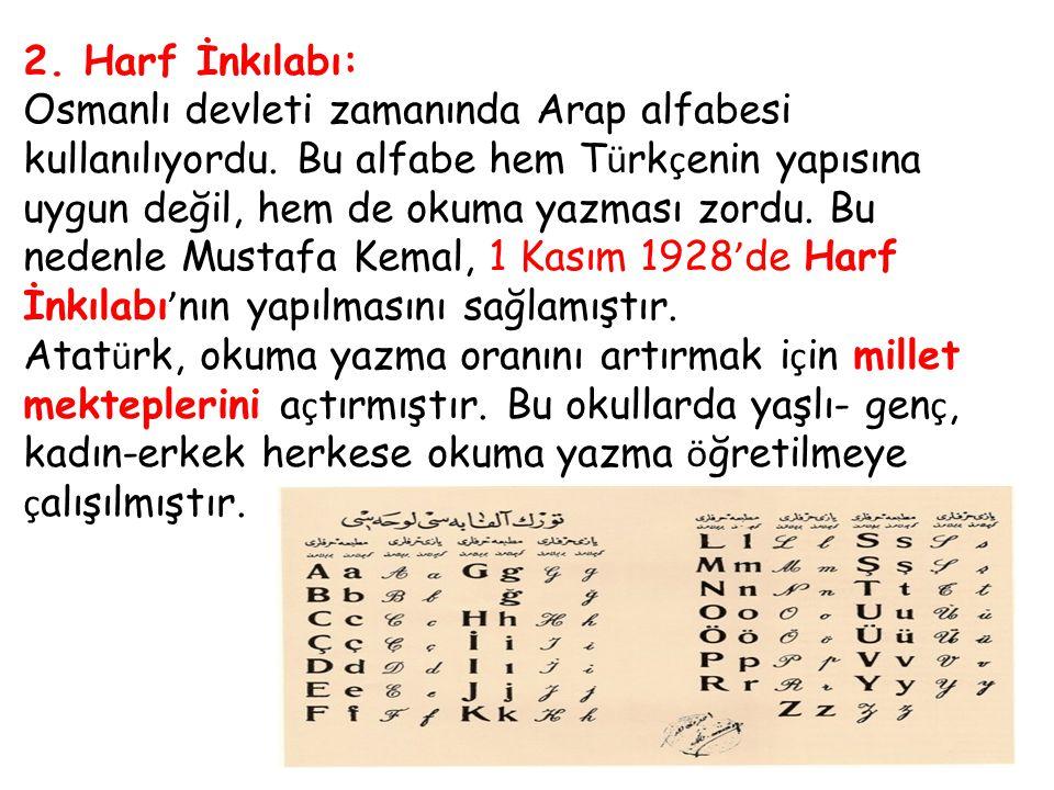 2. Harf İnkılabı: