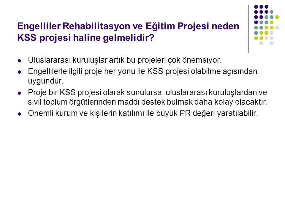 Engelliler Rehabilitasyon ve Eğitim Projesi neden KSS projesi haline gelmelidir