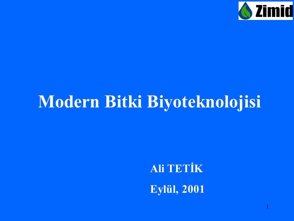 Modern Bitki Biyoteknolojisi