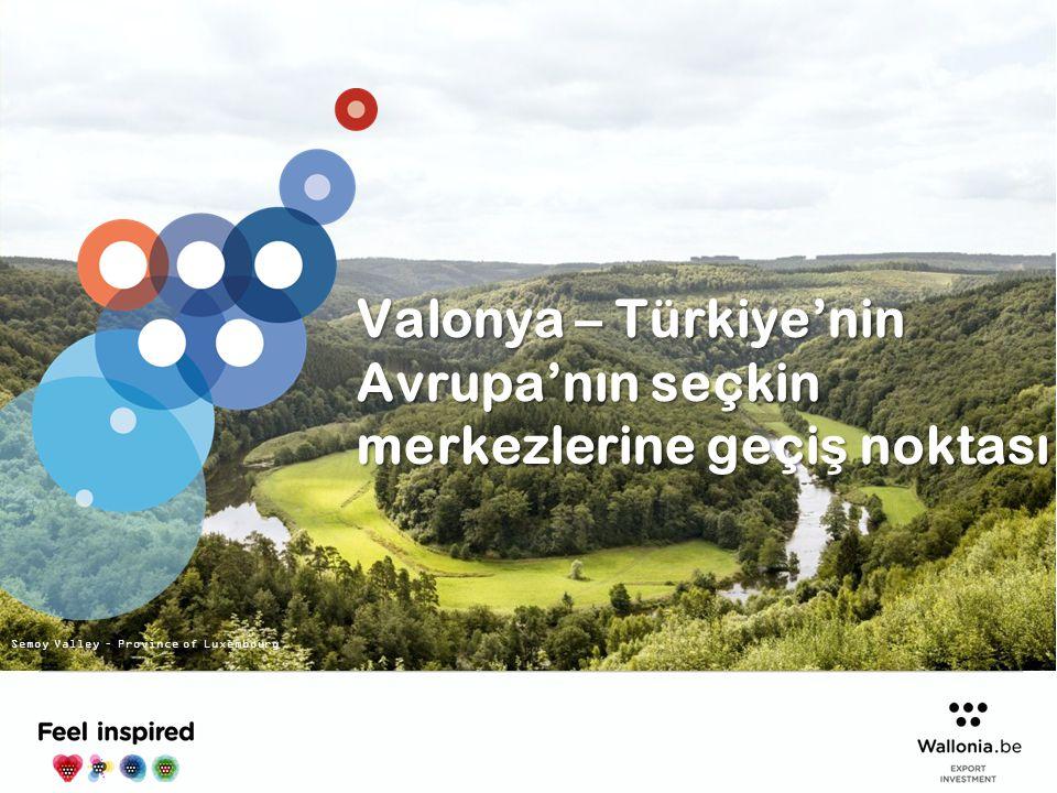 Valonya – Türkiye'nin Avrupa'nın seçkin merkezlerine geçiş noktası