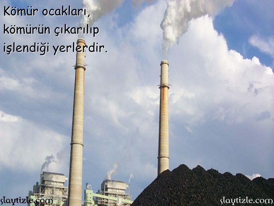 Kömür ocakları, kömürün çıkarılıp işlendiği yerlerdir.