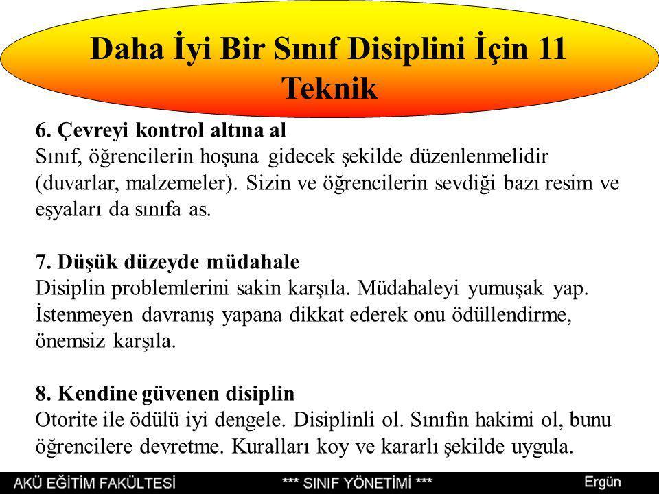 Daha İyi Bir Sınıf Disiplini İçin 11 Teknik