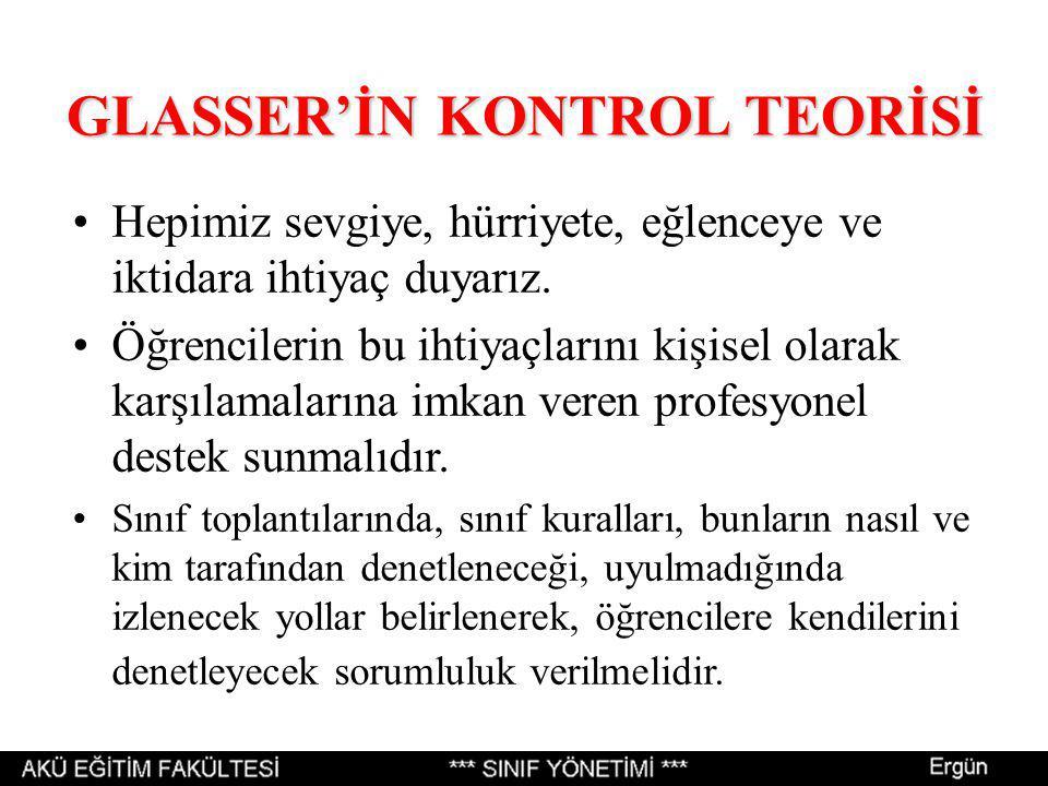 GLASSER'İN KONTROL TEORİSİ