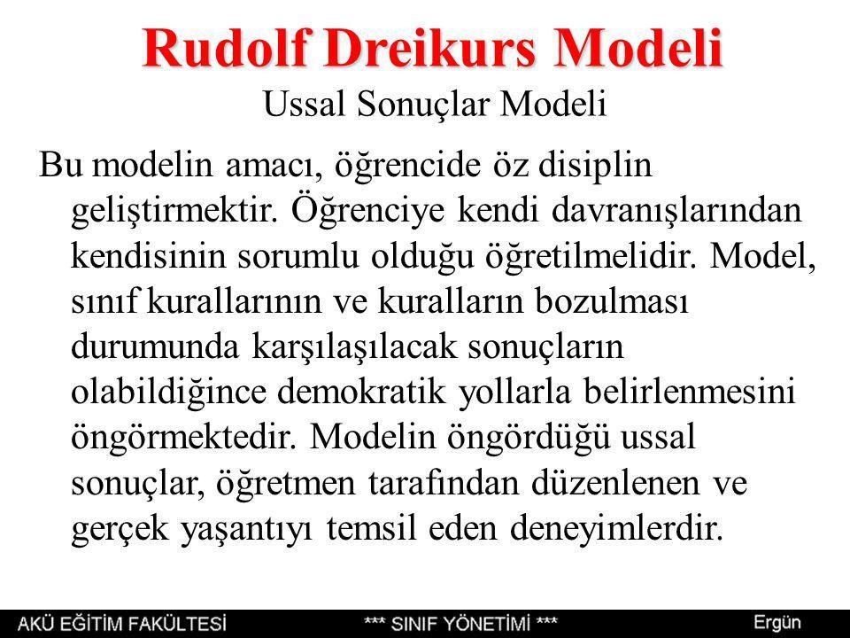 Rudolf Dreikurs Modeli Ussal Sonuçlar Modeli