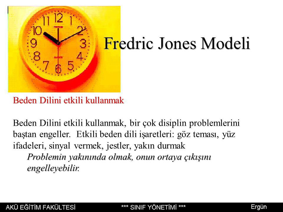 Fredric Jones Modeli Beden Dilini etkili kullanmak