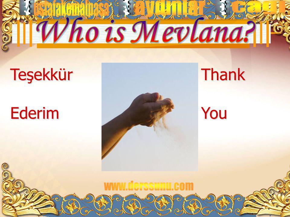 Who is Mevlana Teşekkür Ederim Thank You