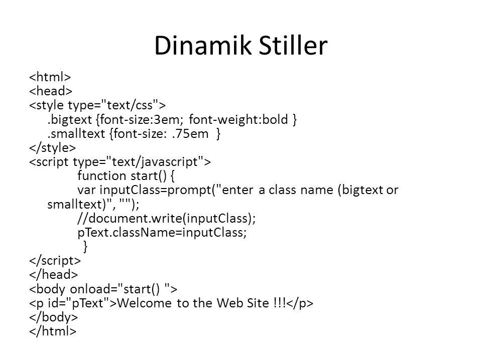 Dinamik Stiller