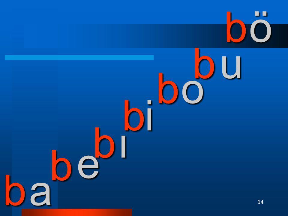 b ö b u b o b i b ı e b b a