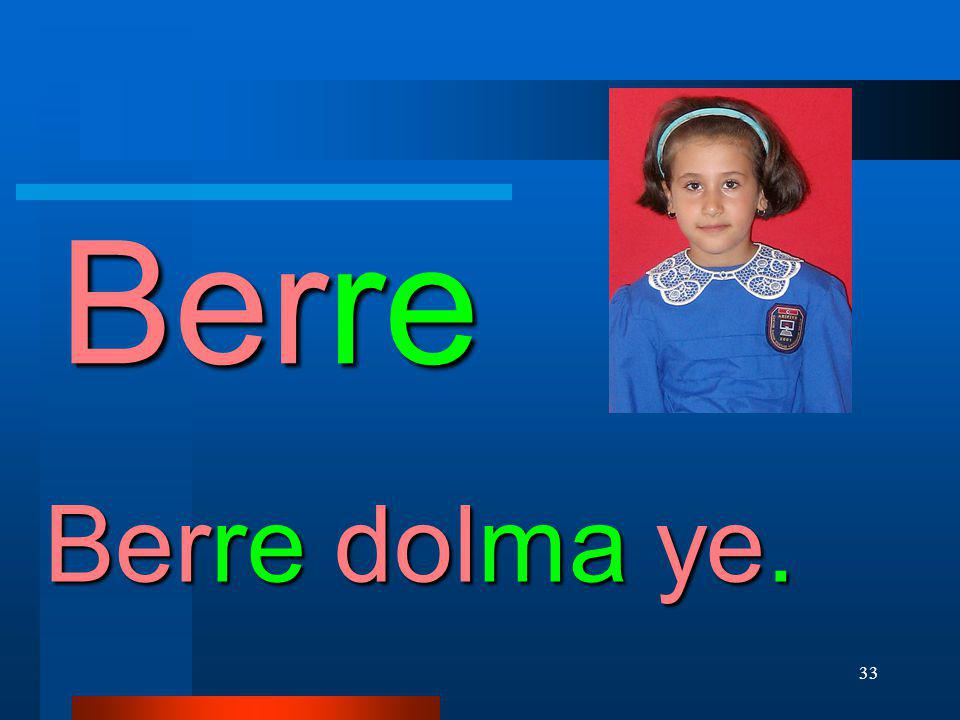 Berre Berre dolma ye.