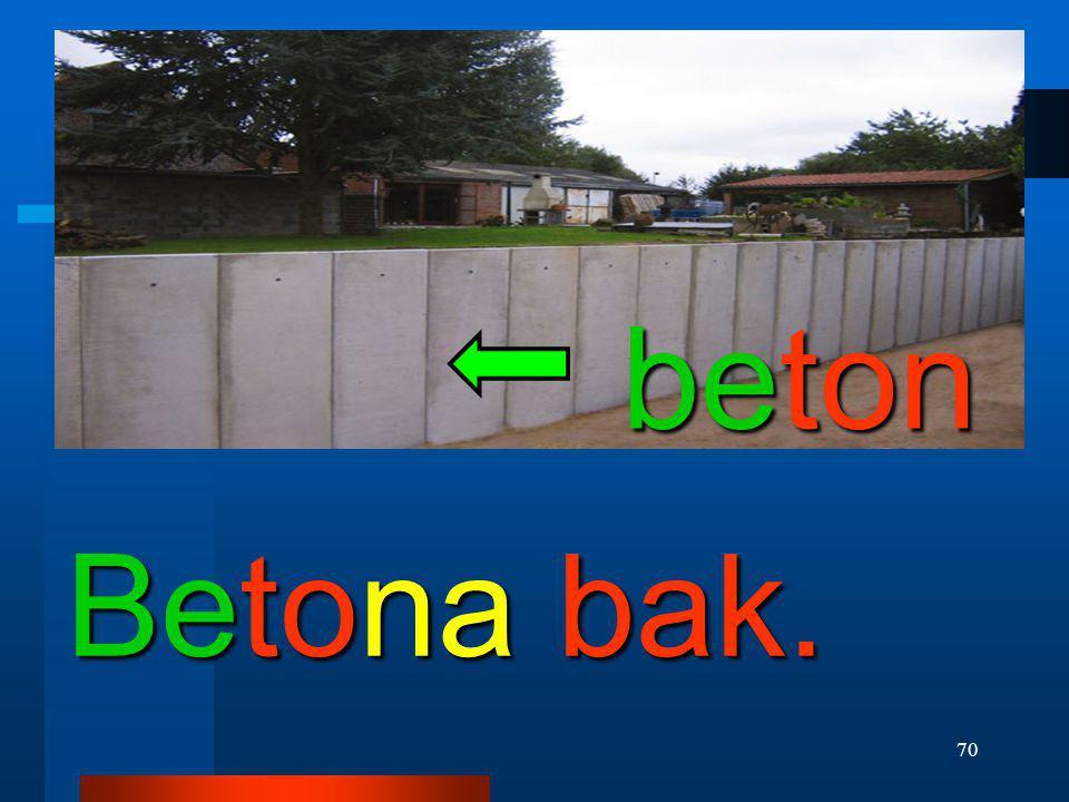 beton Betona bak.
