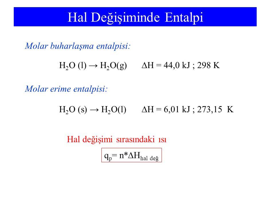 Hal Değişiminde Entalpi