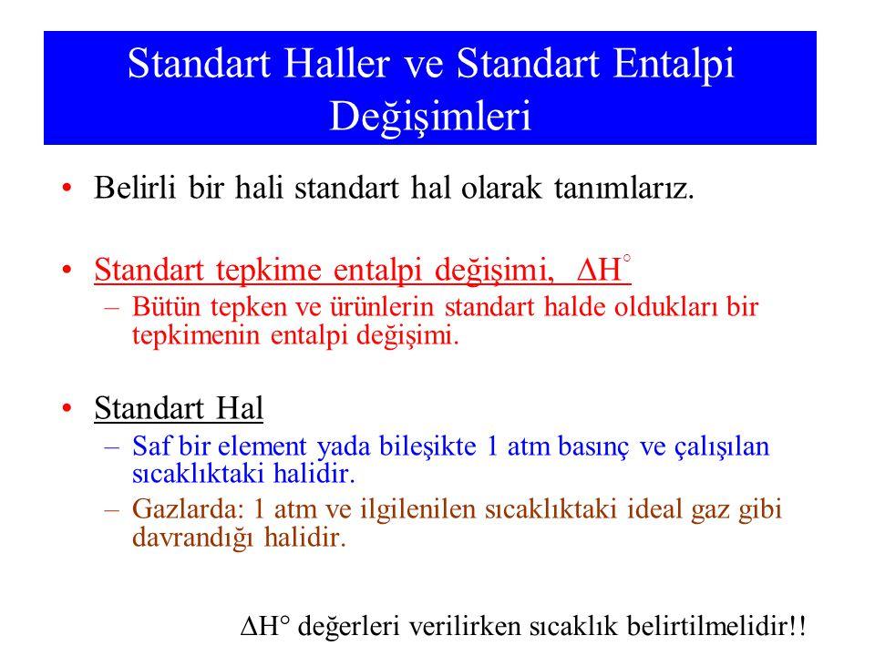 Standart Haller ve Standart Entalpi Değişimleri