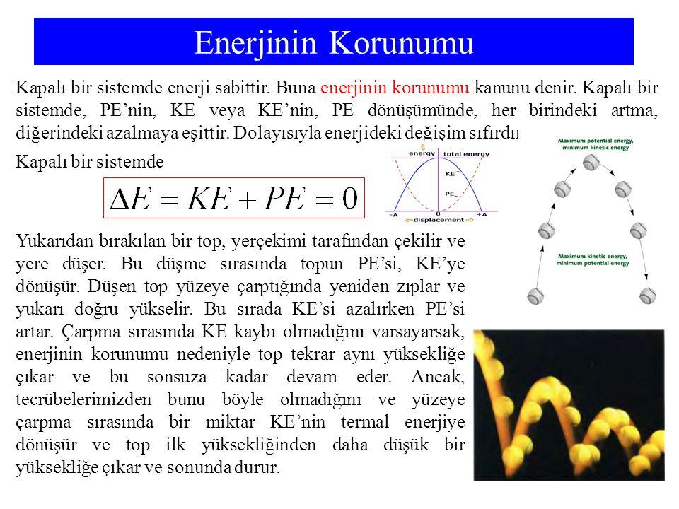Chemistry 140 Fall 2002 Enerjinin Korunumu.