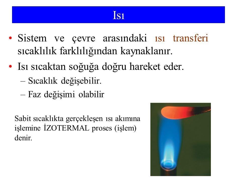 Chemistry 140 Fall 2002 Isı. Sistem ve çevre arasındaki ısı transferi sıcaklılık farklılığından kaynaklanır.