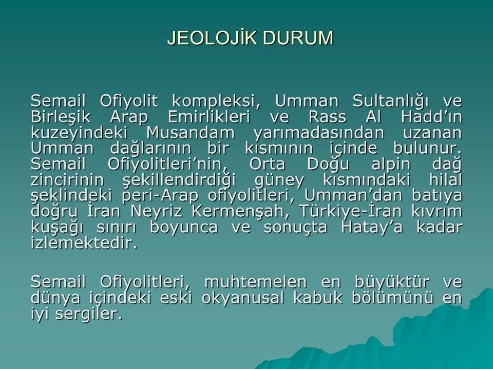 JEOLOJİK DURUM