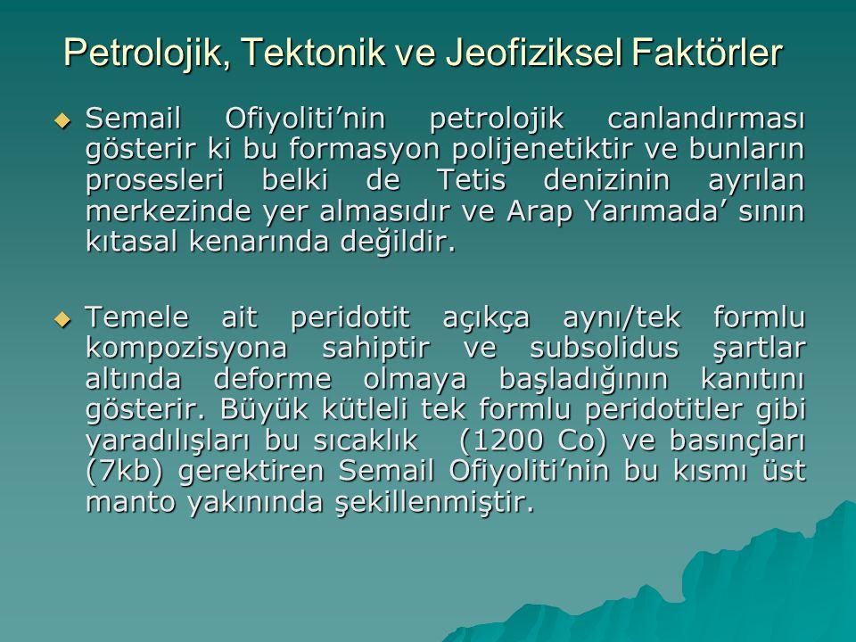 Petrolojik, Tektonik ve Jeofiziksel Faktörler