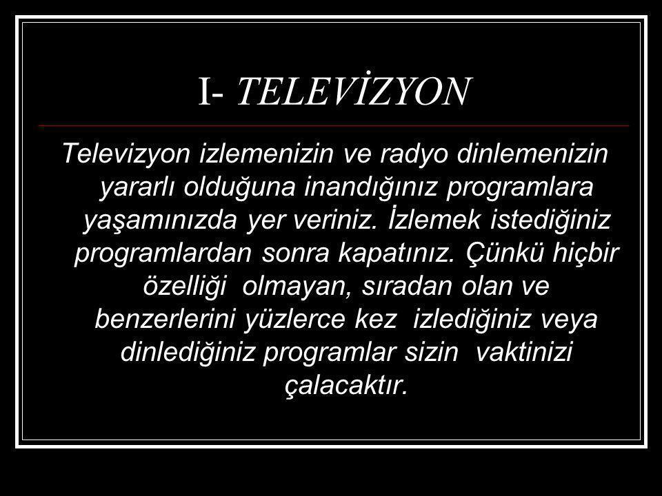 I- TELEVİZYON