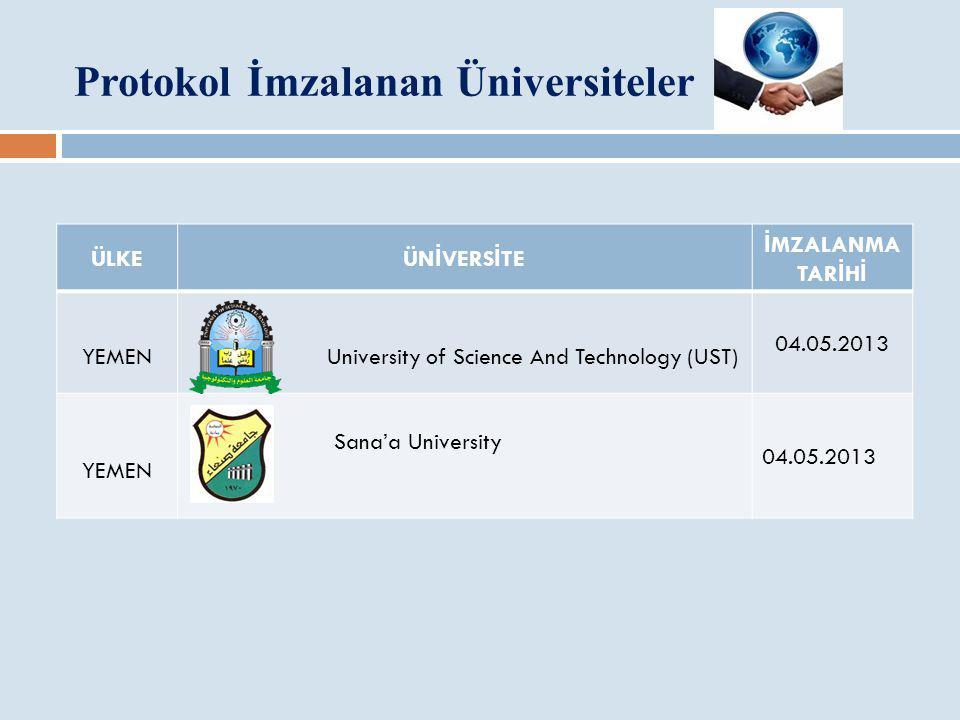 Protokol İmzalanan Üniversiteler