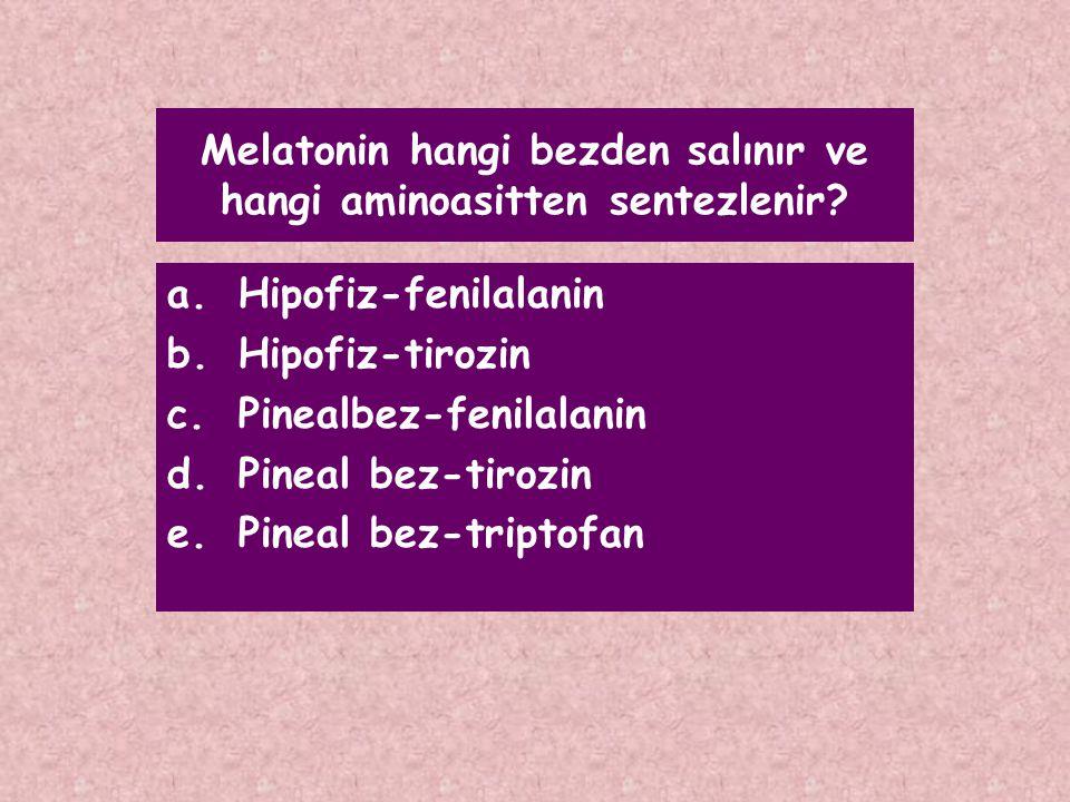 Melatonin hangi bezden salınır ve hangi aminoasitten sentezlenir