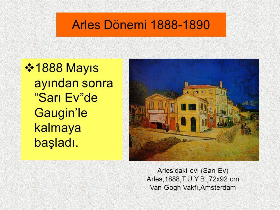 1888 Mayıs ayından sonra Sarı Ev de Gaugin'le kalmaya başladı.
