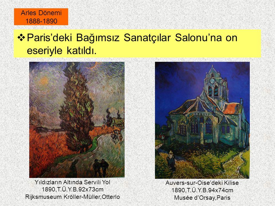 Paris'deki Bağımsız Sanatçılar Salonu'na on eseriyle katıldı.