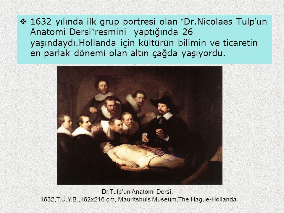 1632 yılında ilk grup portresi olan Dr