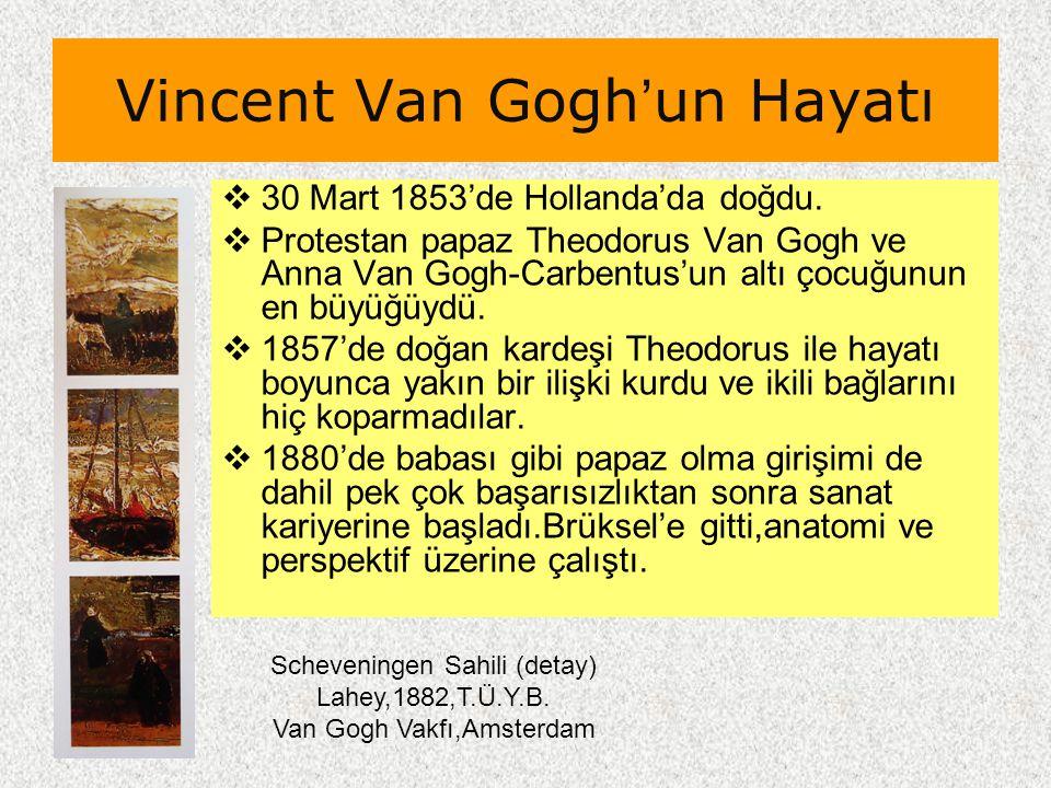 Vincent Van Gogh'un Hayatı