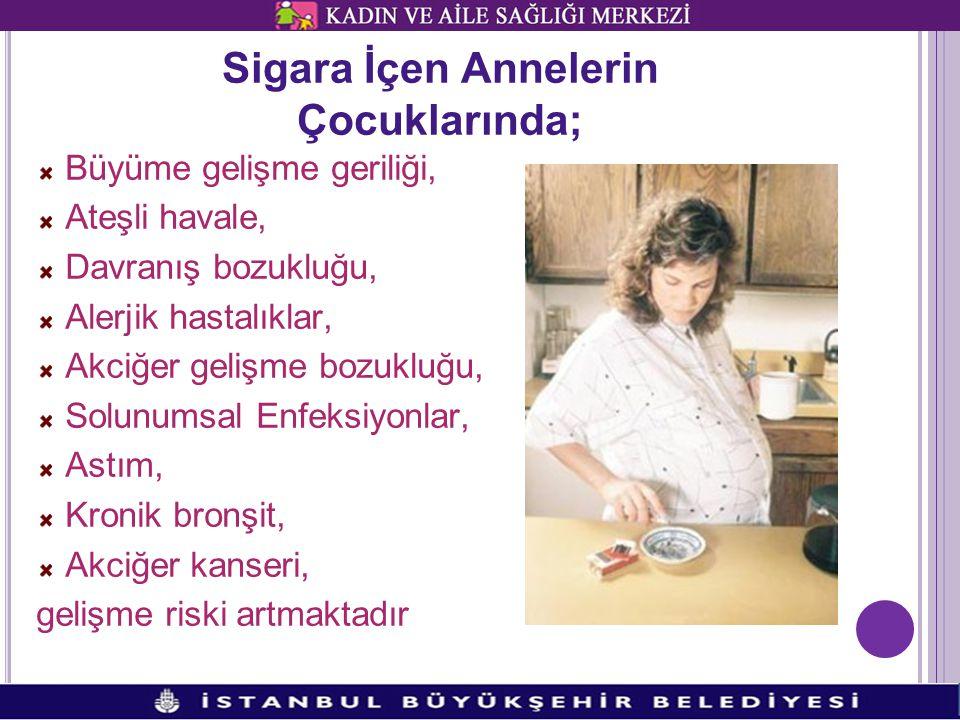 Sigara İçen Annelerin Çocuklarında;