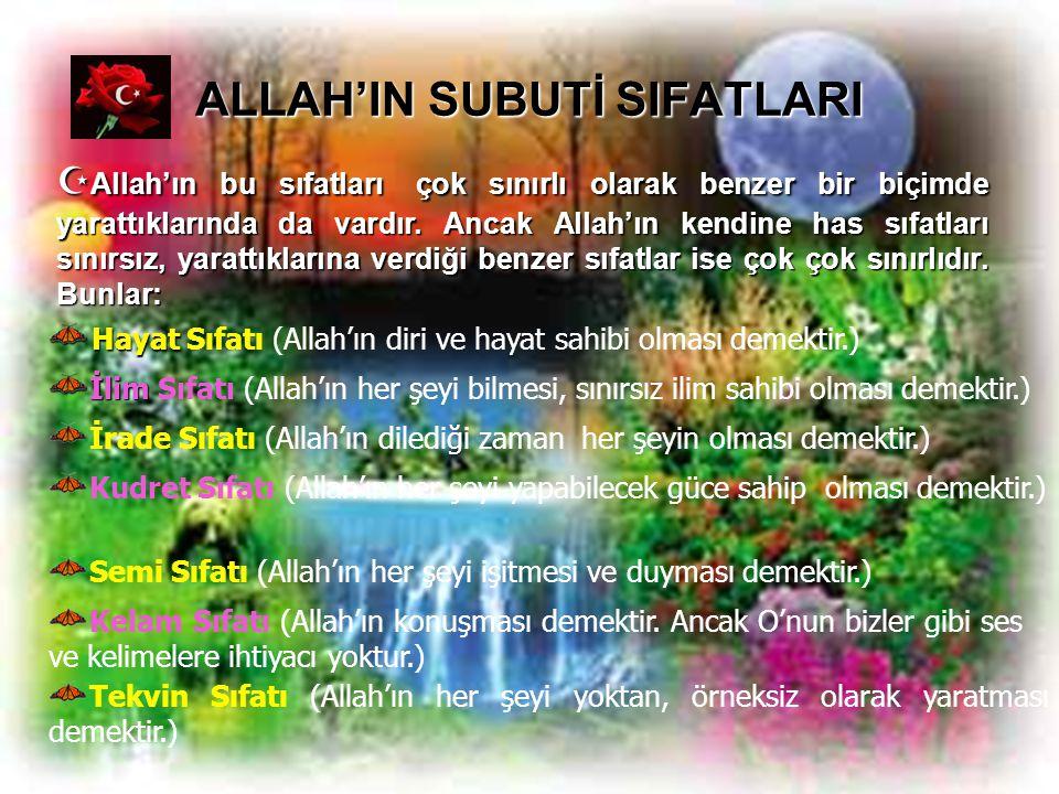ALLAH'IN SUBUTİ SIFATLARI