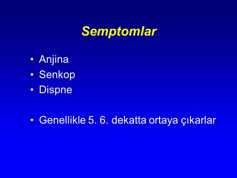 Semptomlar Anjina Senkop Dispne