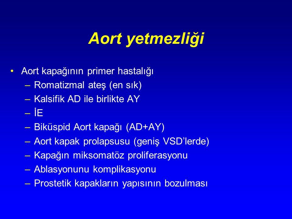 Aort yetmezliği Aort kapağının primer hastalığı