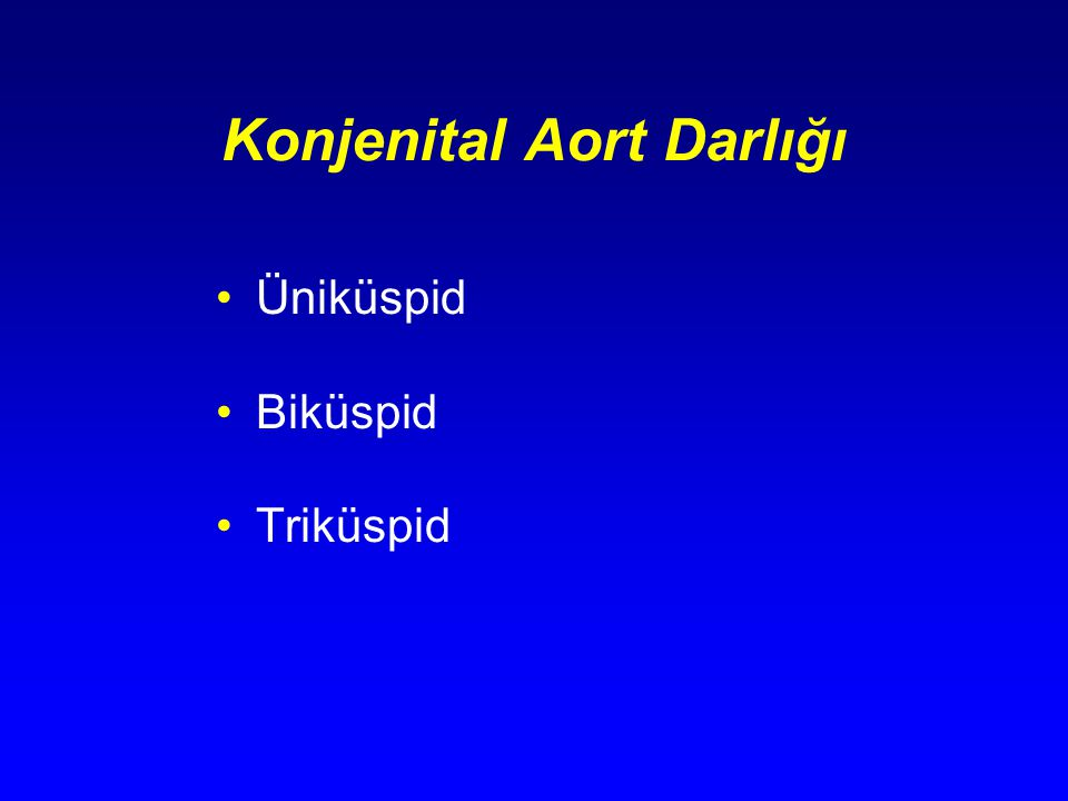 Konjenital Aort Darlığı