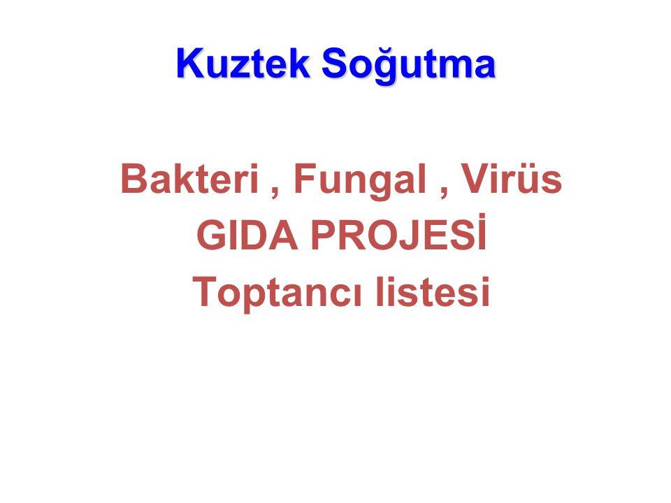Bakteri , Fungal , Virüs GIDA PROJESİ Toptancı listesi