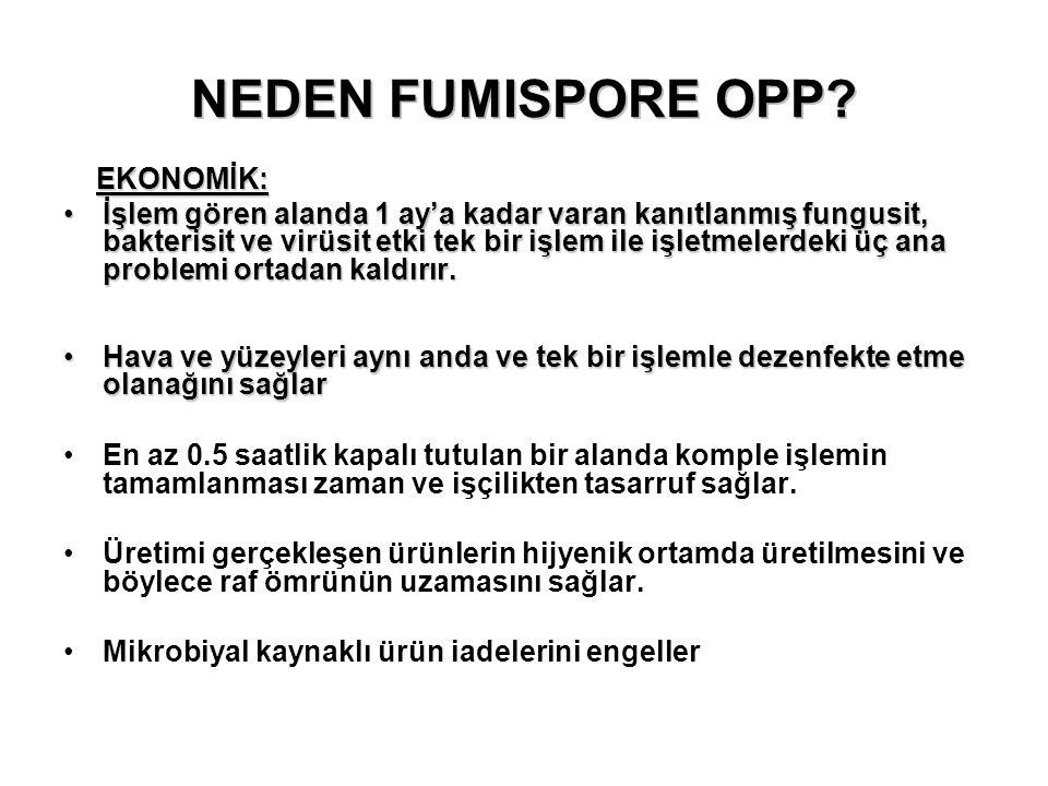 NEDEN FUMISPORE OPP EKONOMİK: