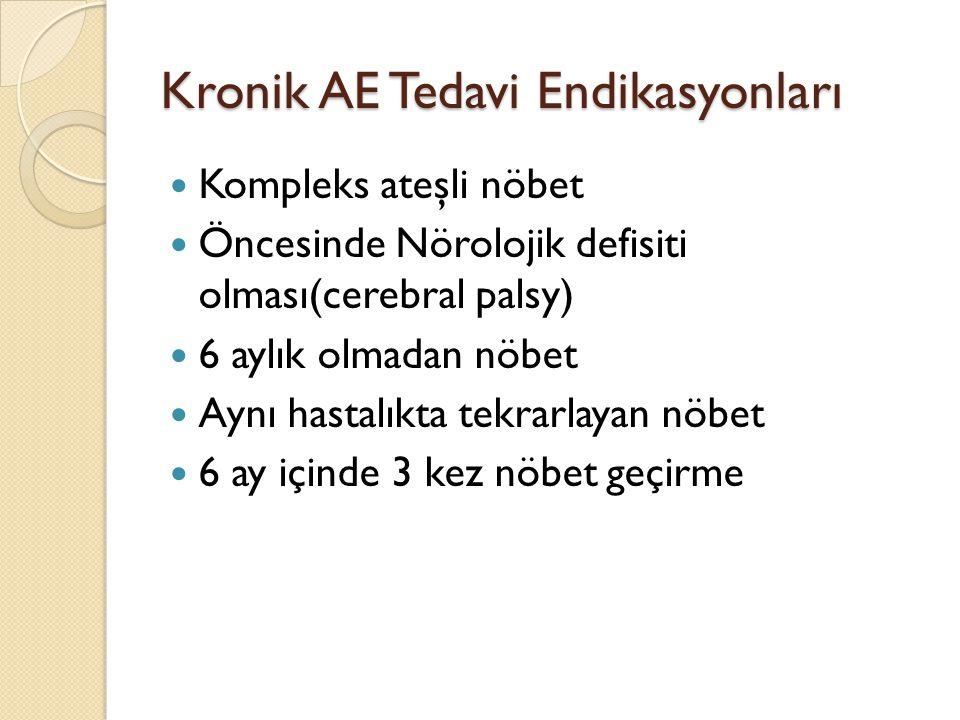 Kronik AE Tedavi Endikasyonları