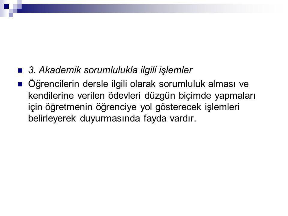 3. Akademik sorumlulukla ilgili işlemler