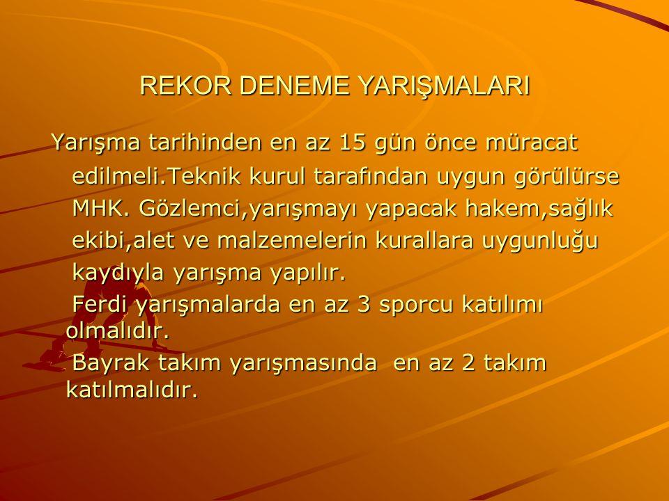 REKOR DENEME YARIŞMALARI