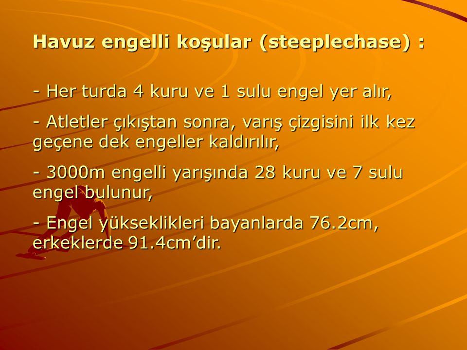 Havuz engelli koşular (steeplechase) :
