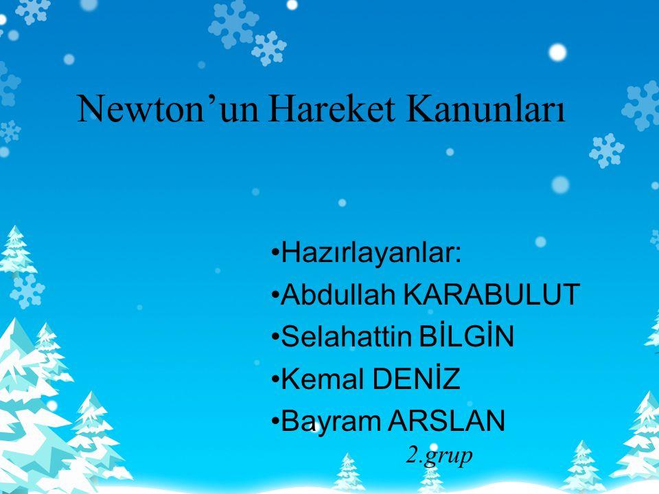 Newton'un Hareket Kanunları