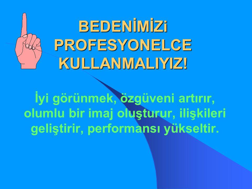 BEDENİMİZi PROFESYONELCE KULLANMALIYIZ!
