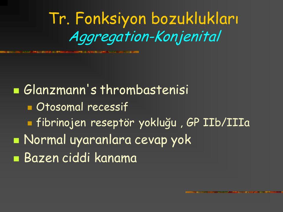 Tr. Fonksiyon bozuklukları Aggregation-Konjenital
