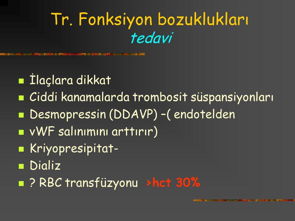 Tr. Fonksiyon bozuklukları tedavi